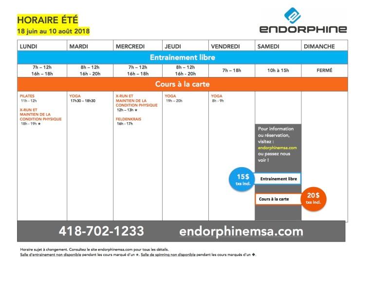 Endorphine_horaire_E18